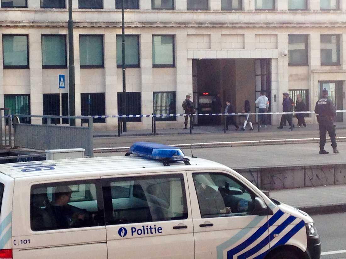 Bryssel 2016: Häktningsförhandlingen mot terroranklagade Osama Krayem och hans kumpaner. Arkivbild.