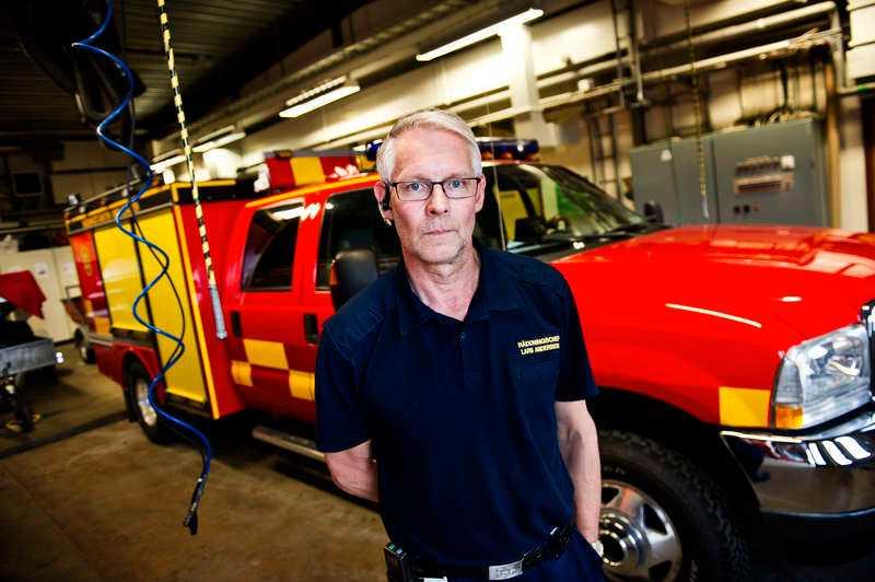 """""""KAN INTE BESKRIVA"""" Lars Andersson, räddingschef i Smedjebacken, åkte till platsen så fort han fått höra om olyckan."""