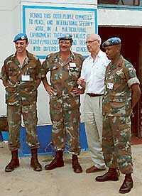 Pierre Schori besökte i december FN-styrkorna i Kongo.