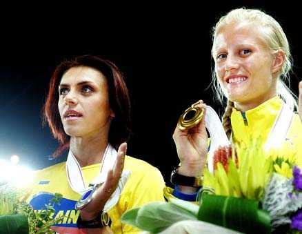 VM-SILVER 2007 Ludmila Blonska tog silver i VM förra året – Carolina Klüft vann guld.