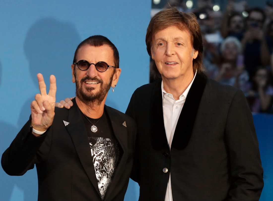 Ringo Starr tillsammans med Paul McCartney.