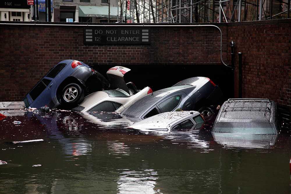 I samband med orkanen Sandy totalförstördes närmare 250 000 personbilar.