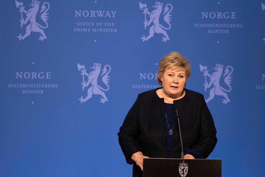Statsminister Erna Solberg. Arkivbild.
