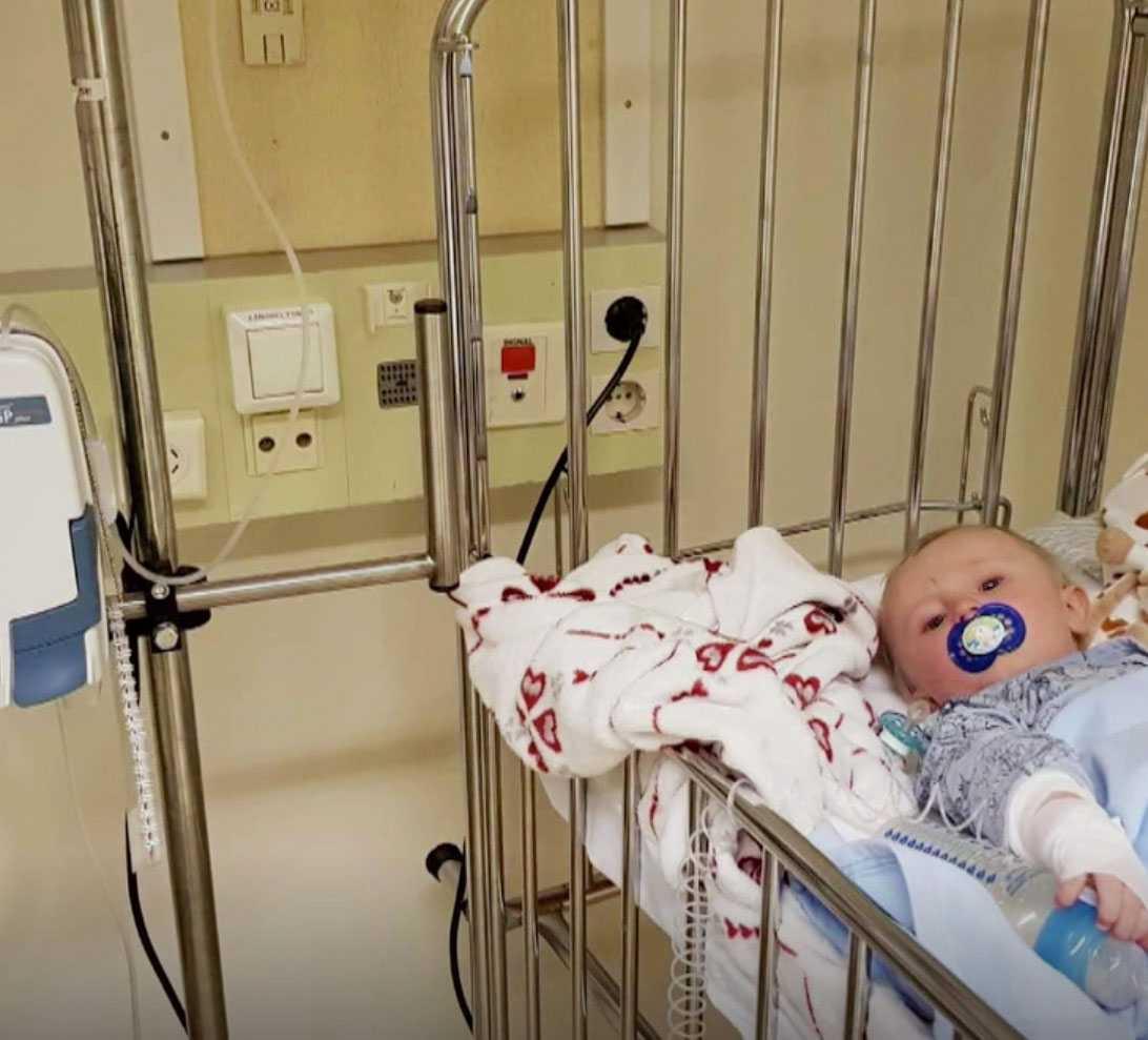 William på sjukhuset efter att ha fått diagnosen diabetes typ 1.