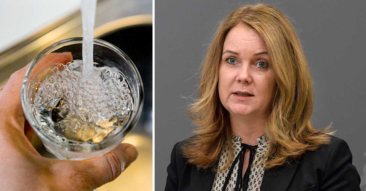 Ministern efter MSB:s vattenlarm: Vi har ingen brist