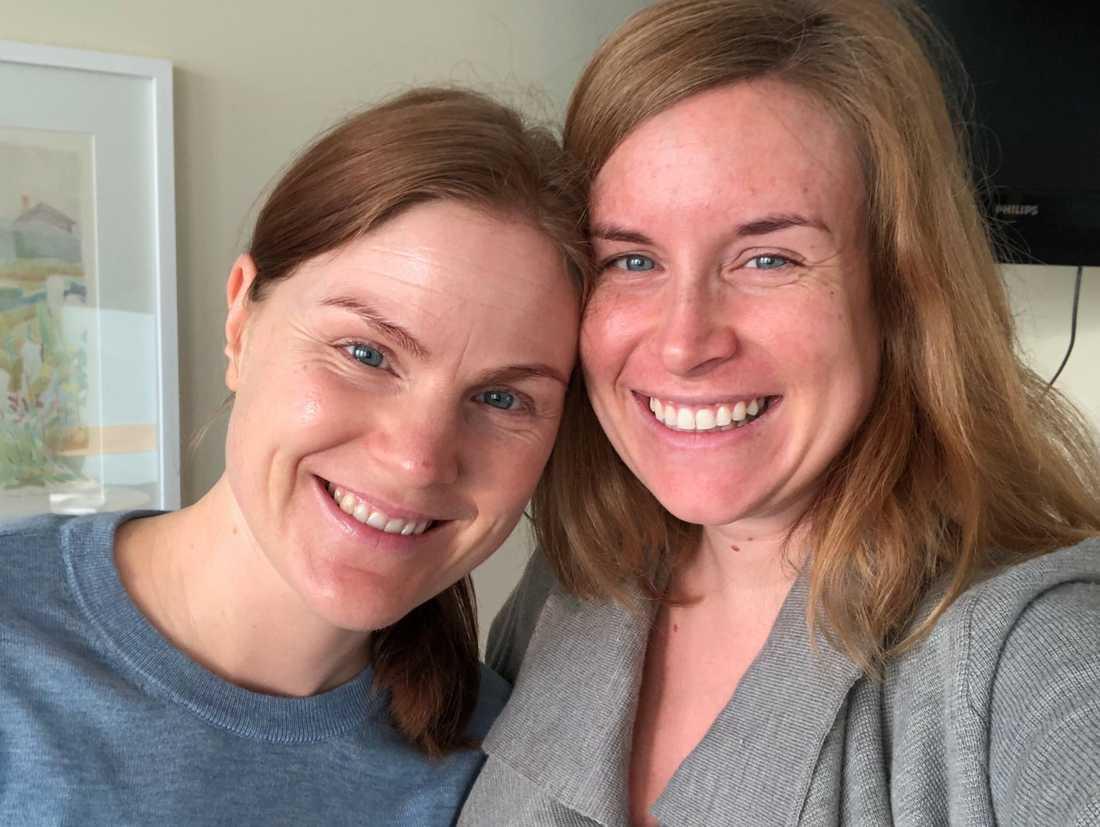 En sista selfie tillsammans innan vi satte på oss sjukhuskläderna och sonen föddes.