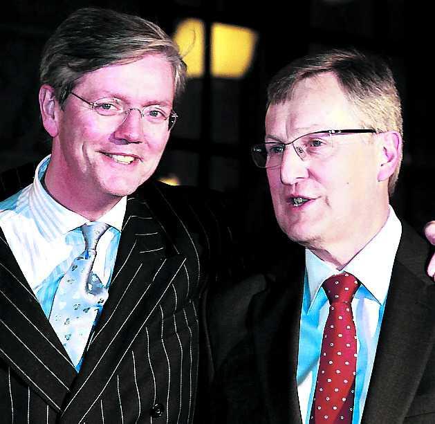 inte orolig Spykers vd Victor Muller (t.v.) har inte löst finansieringen av Saabköpet.