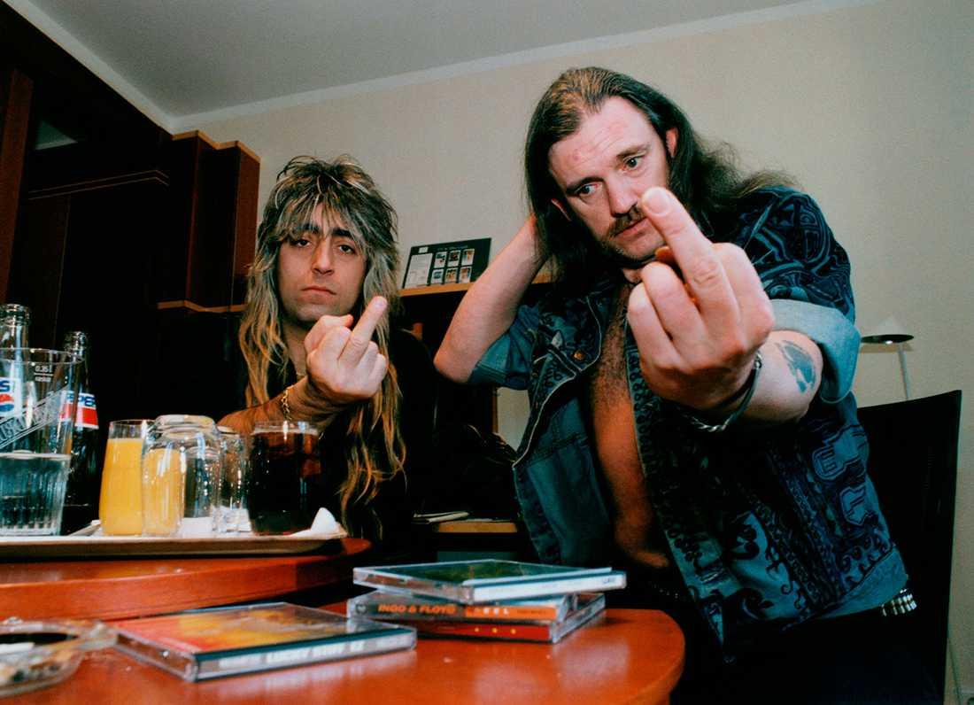 Mikkey Dee och Lemmy tycker till om svensk musik, 1995.