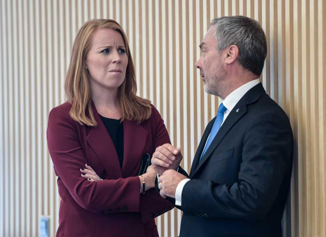 Annie Lööf (C) och Jan Björklund (L)