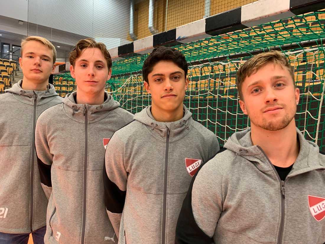 Lugiprofilernas söner är klubbens framtid: Theo Übelacker, Isak Persson, Casper Käll och Albin Carlsson.