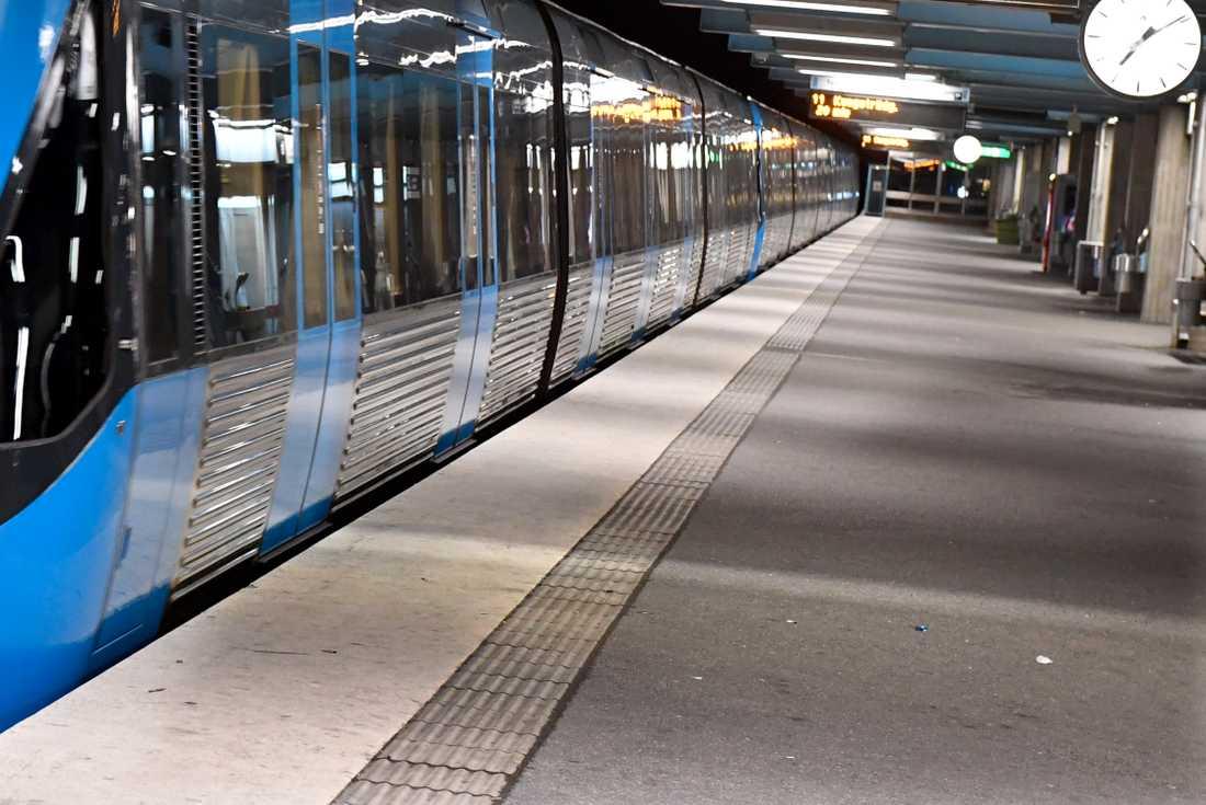 Genrebild från tunnelbanan i Stockholm.