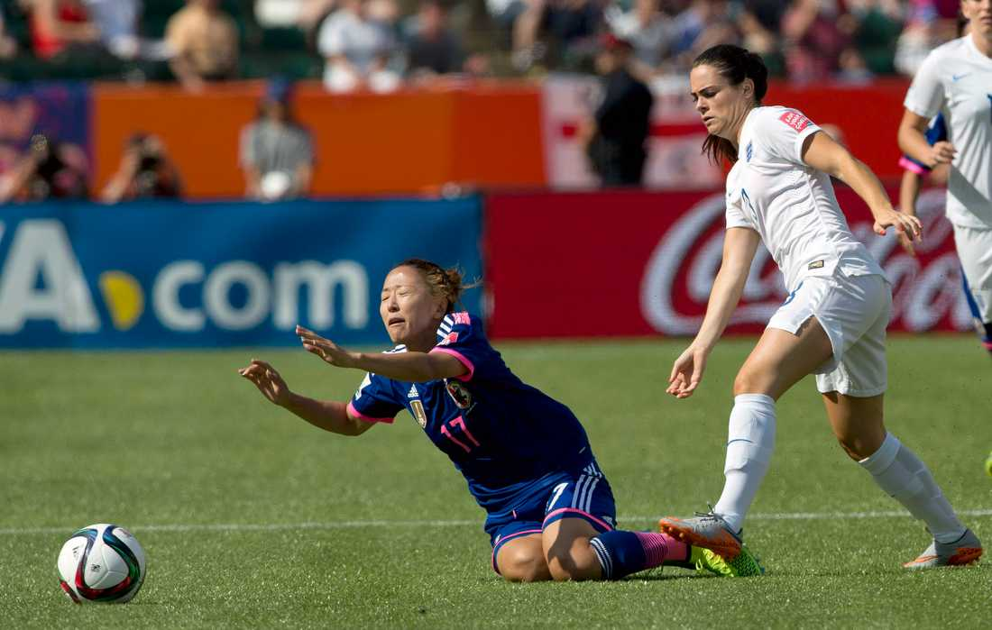 Claire Rafferty under matchen mot Japan under VM i Kanada 2015.