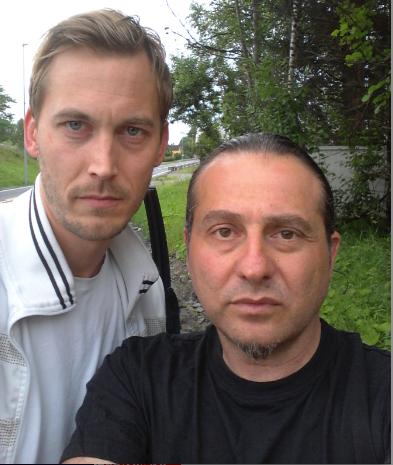 På besök i Norge. Martin Gunnerblad och Sal Passanisi blev vittne till explosionerna i centrala Oslo.