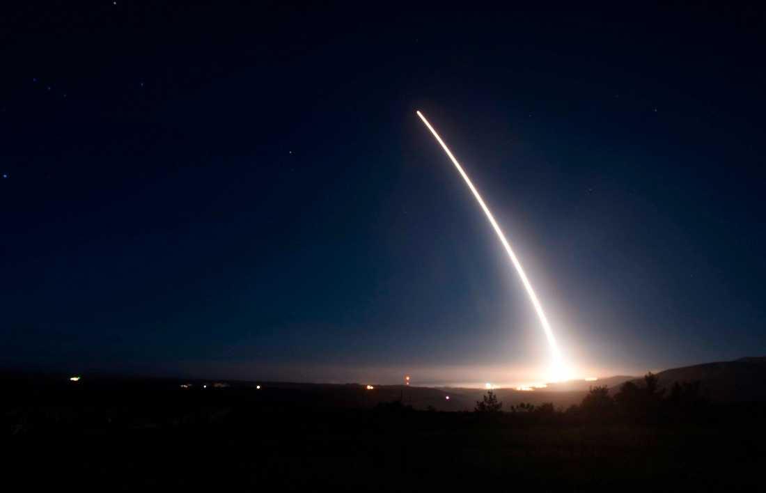 Ett tidigare test av en amerikansk kärnvapenmissil