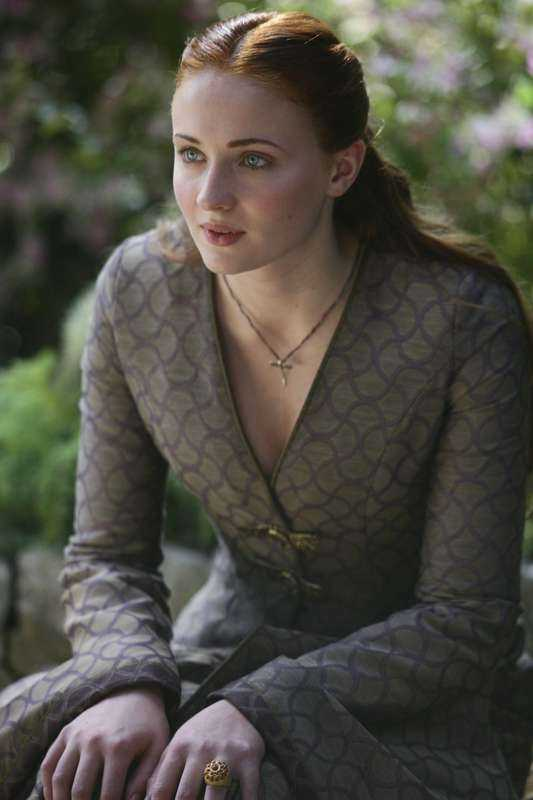 "Sophie Turner i ""Game of thrones""."