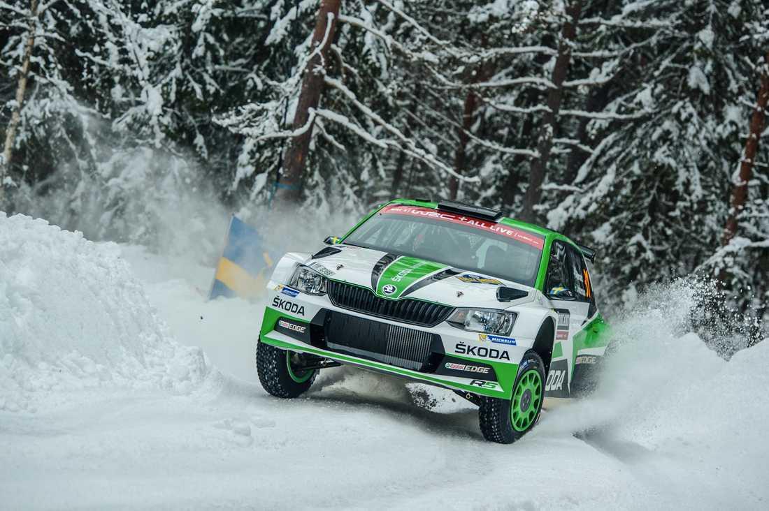 Strålande väder för Pontus Tidemand under Rally Sweden 2018