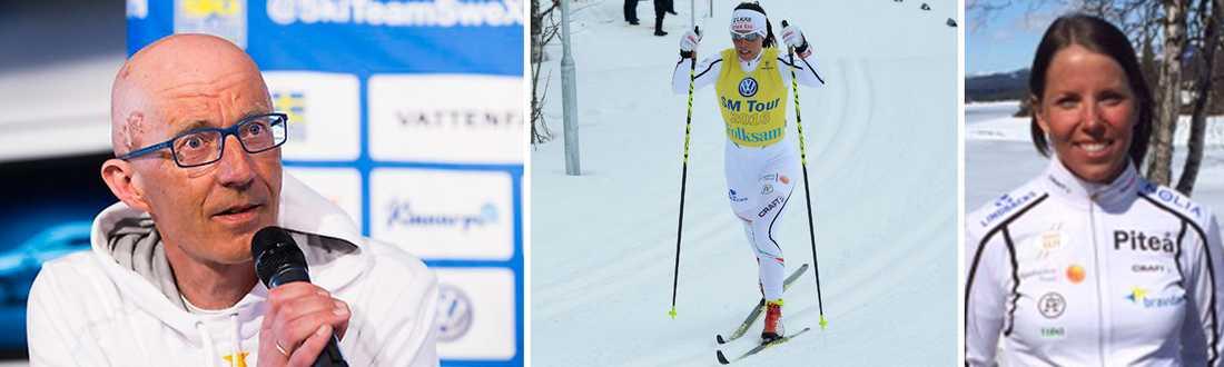 Förbundskapten Ole Morten Iversen och Charlotte Kalla.