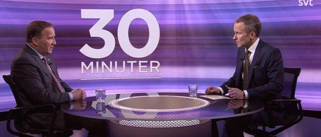 """Stefan Löfven (S) intervjuades av SVT:s Anders Holmberg i """"30 minuter i förra veckan. Där varnade statsministern för de eftergifter en högerregering kan tvingas till av Sverigedemokraterna."""