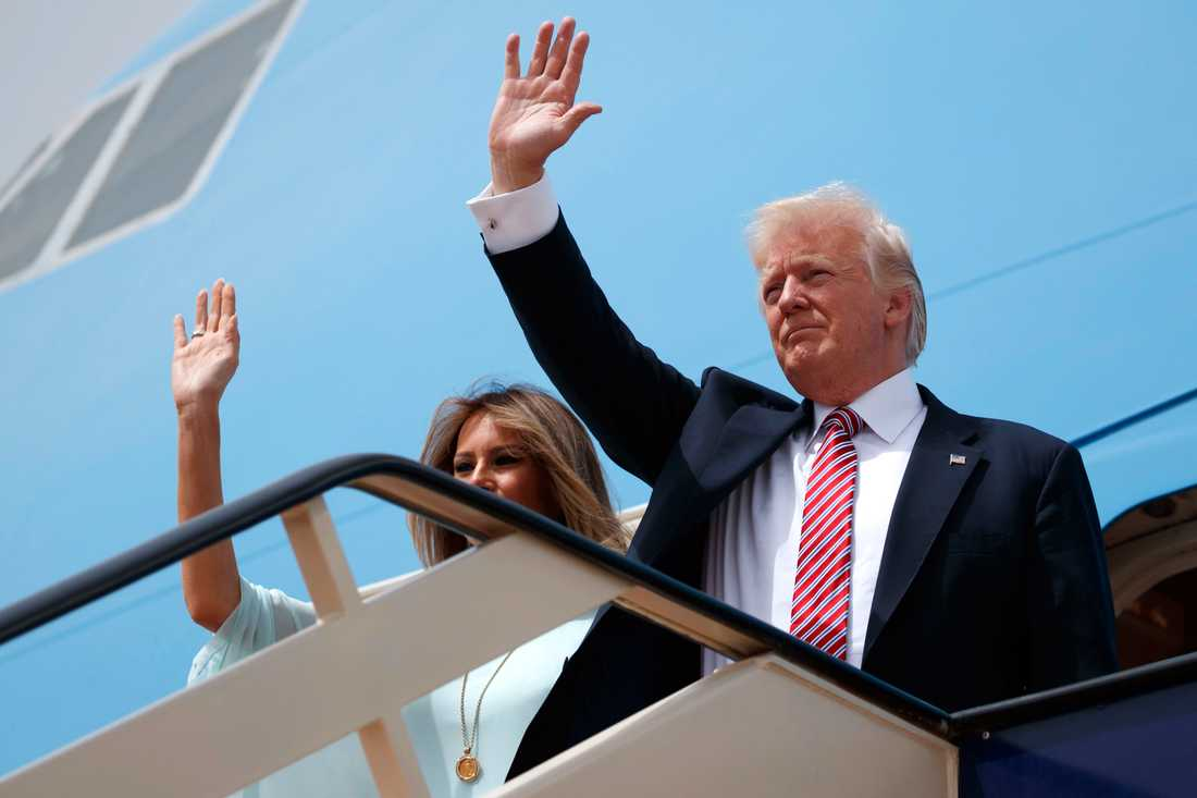 Paret Trump lämnar Saudiarabien på väg till Israel
