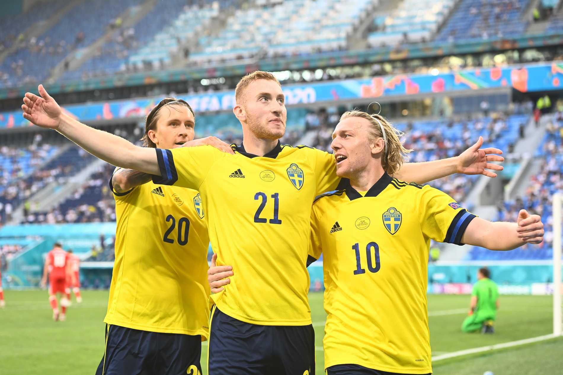 Emil Forsberg gjorde två mål på sin drömarena i S:t Petersburg.