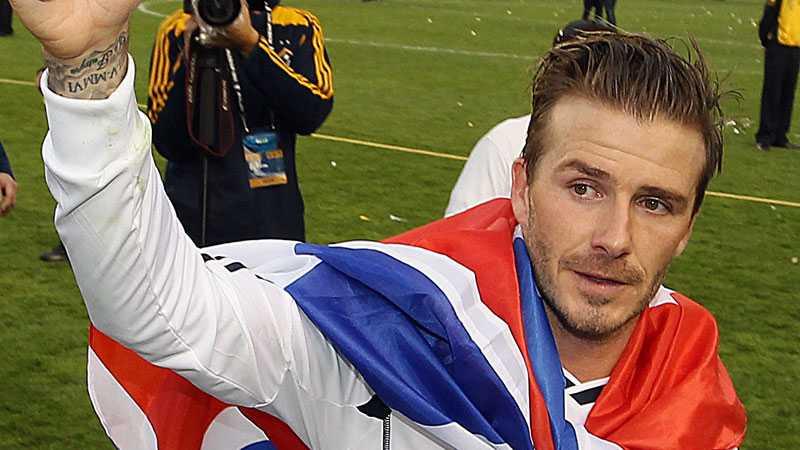 Beckham avslutade tiden i LA Galaxy med en titel i MLS cup.