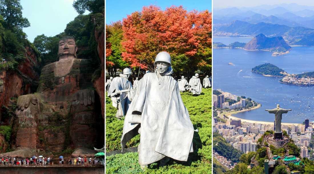 Det finns en hel del sevärda statyer i världen.