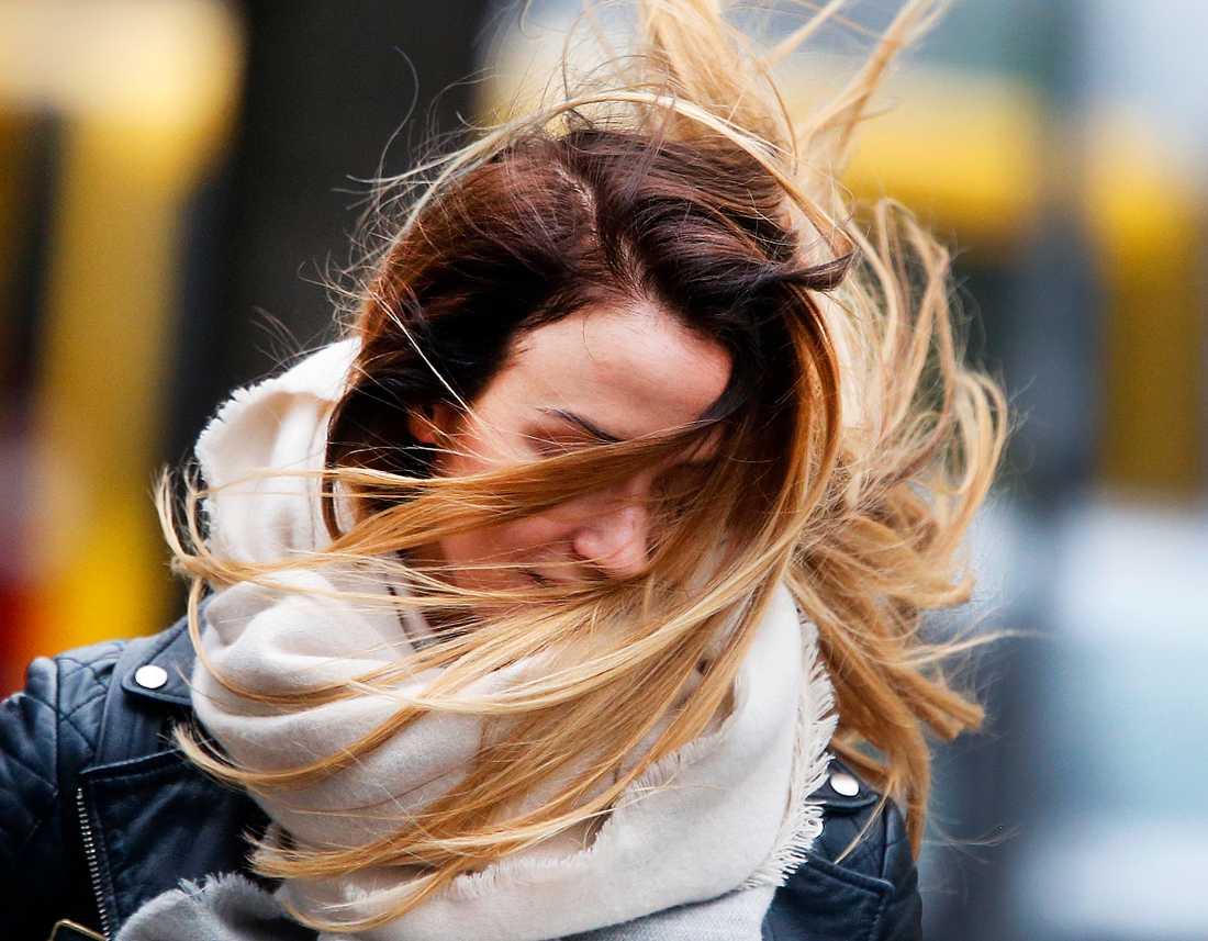 Mycket besvärlig blåst kan dra in över landet på måndag. Arkivbild.
