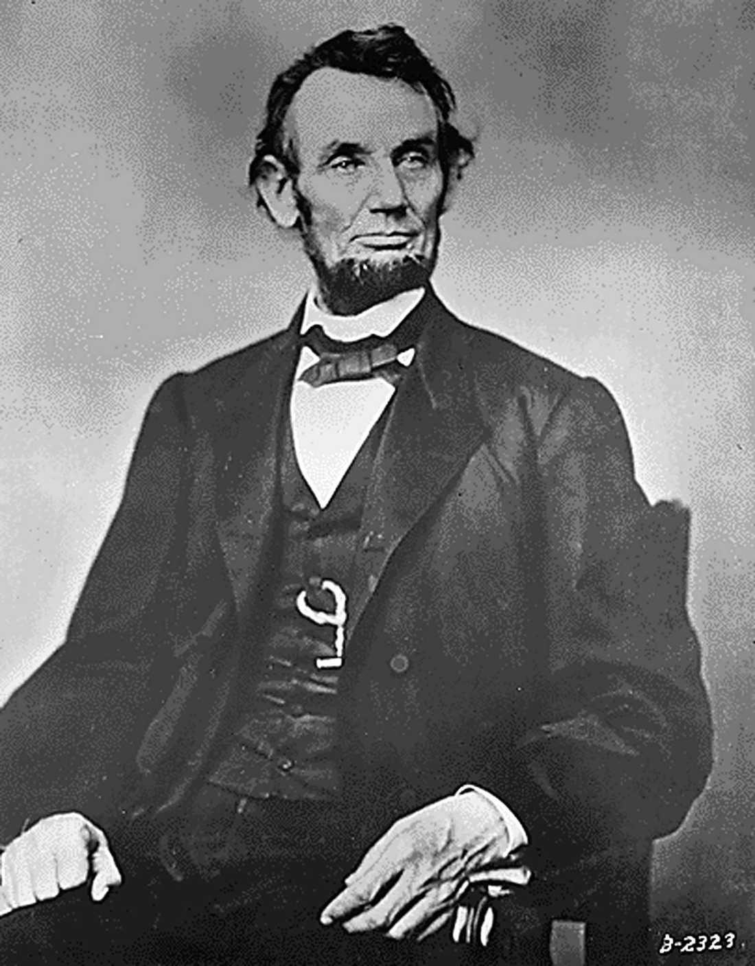 Abraham Lincoln. Lincoln var USAs president mellan  1861 och 1885.