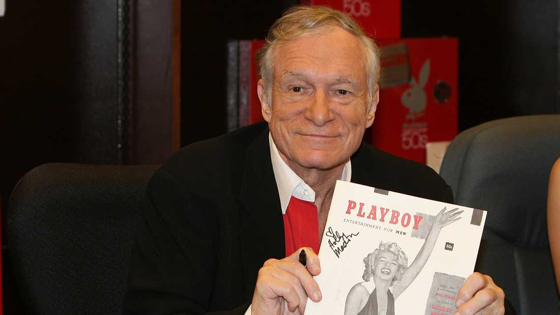 Playboy-grundaren Hugh Hefner (1926–2017).