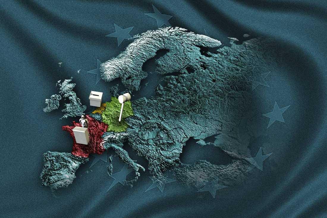 HÅLLER ANDAN Tre viktiga faktorer kan ställa till det ännu mer för det redan krisdrabbade samarbetet inom EU. I dag avgörs nyvalet i Nederländerna, tyska författningsdomstolen tar ställning om EU:s räddningsfond ESM är förenlig med den tyska grundlagen. Som grädde på moset håller EU-kommissionens ordförande José Manuel Barroso tal i Strasbourg.