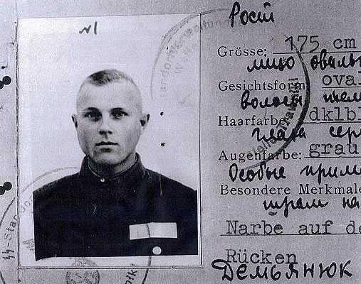 Demjanjuks identitetshandlingar under andra världskriget.