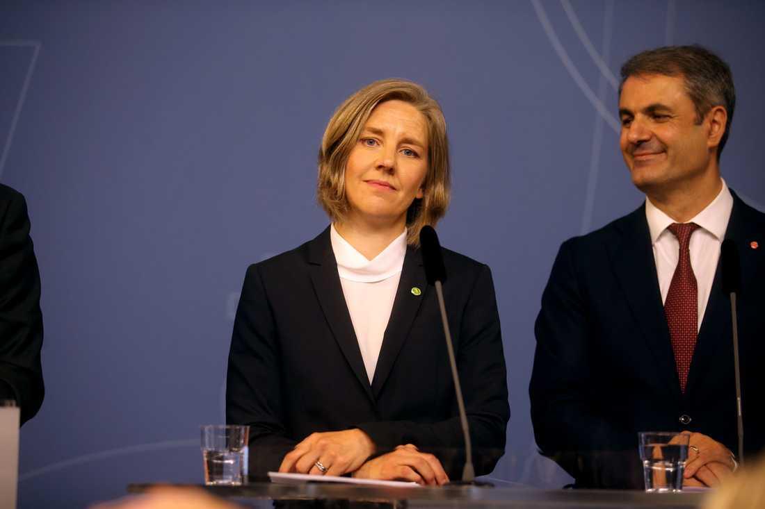 Karolina Skog (MP), ny miljöminister och Ibrahim Baylan, som förutom energiminister även blir samordningsminister.