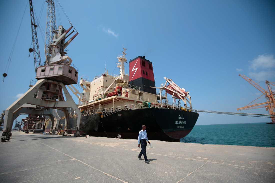 al-Hudaydah är en viktig hamnstad i Jemen, och därför hett omstridd i det pågående kriget. Arkivbild.