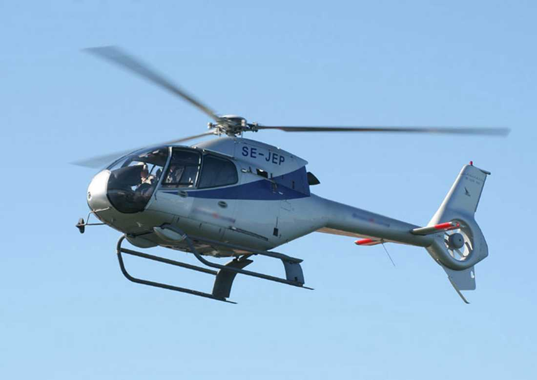 Alexander Ernstbergers Eurocopter 120B Colibri SE-JEP. Bilden är tagen när helikoptern ägdes av en tidigare ägare och nu är den omlackad.