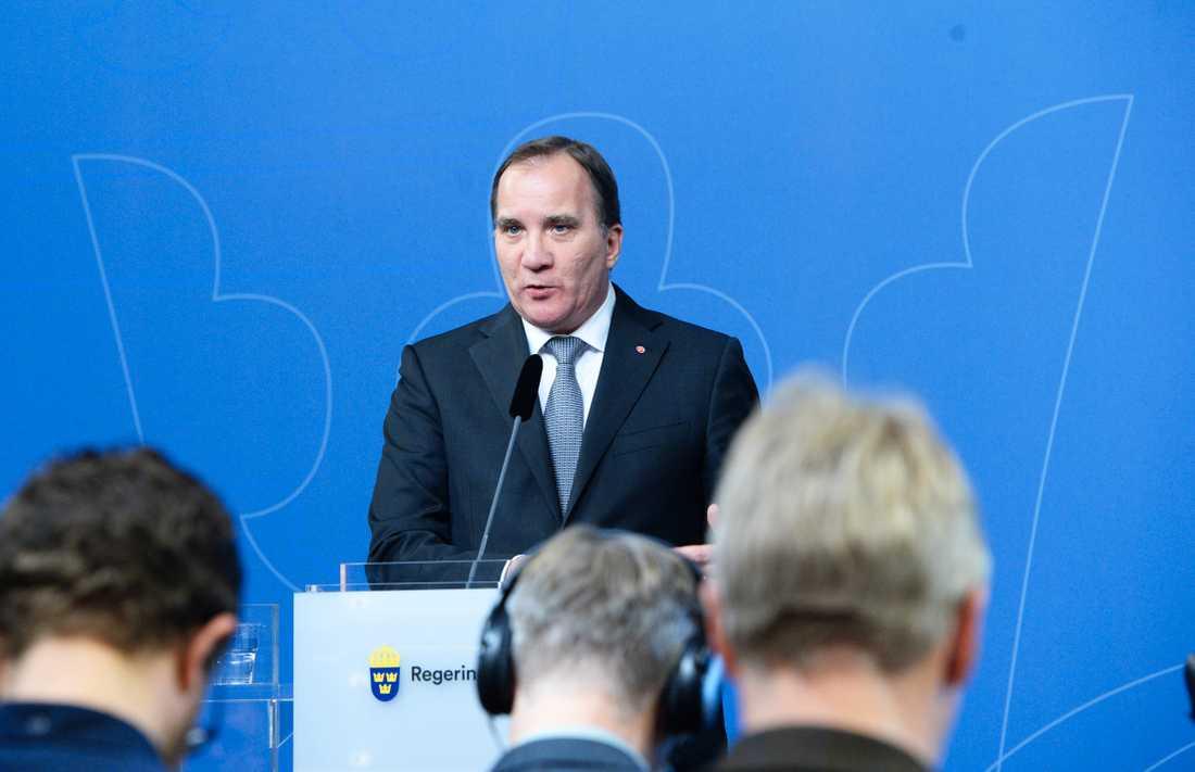 Presskonferens Stefan Löfven