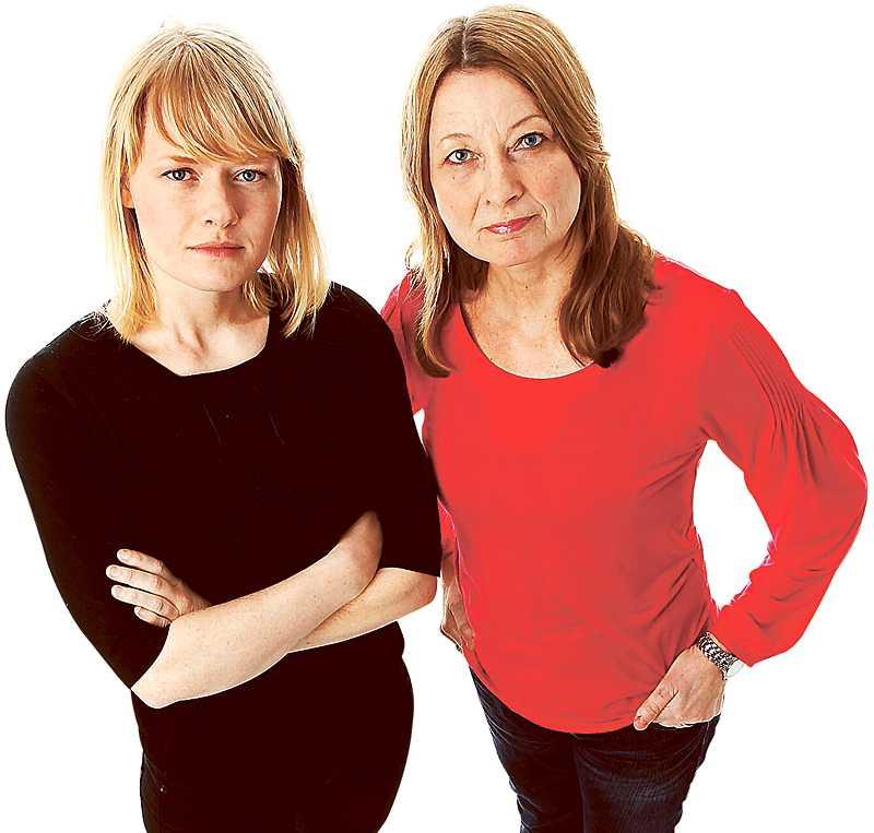 Aftonbladets Kristina Edblom och Kerstin Weigl.