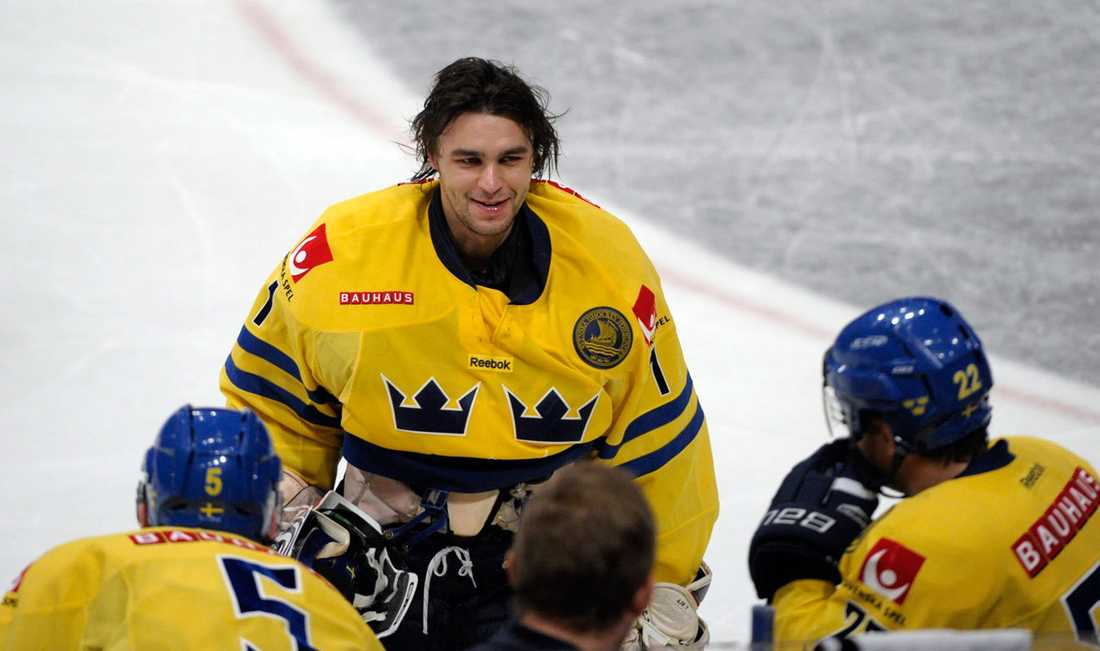 Stefan Liv vid LG Hockey Games tidigare i år. Stefan Liv blev 30 år.
