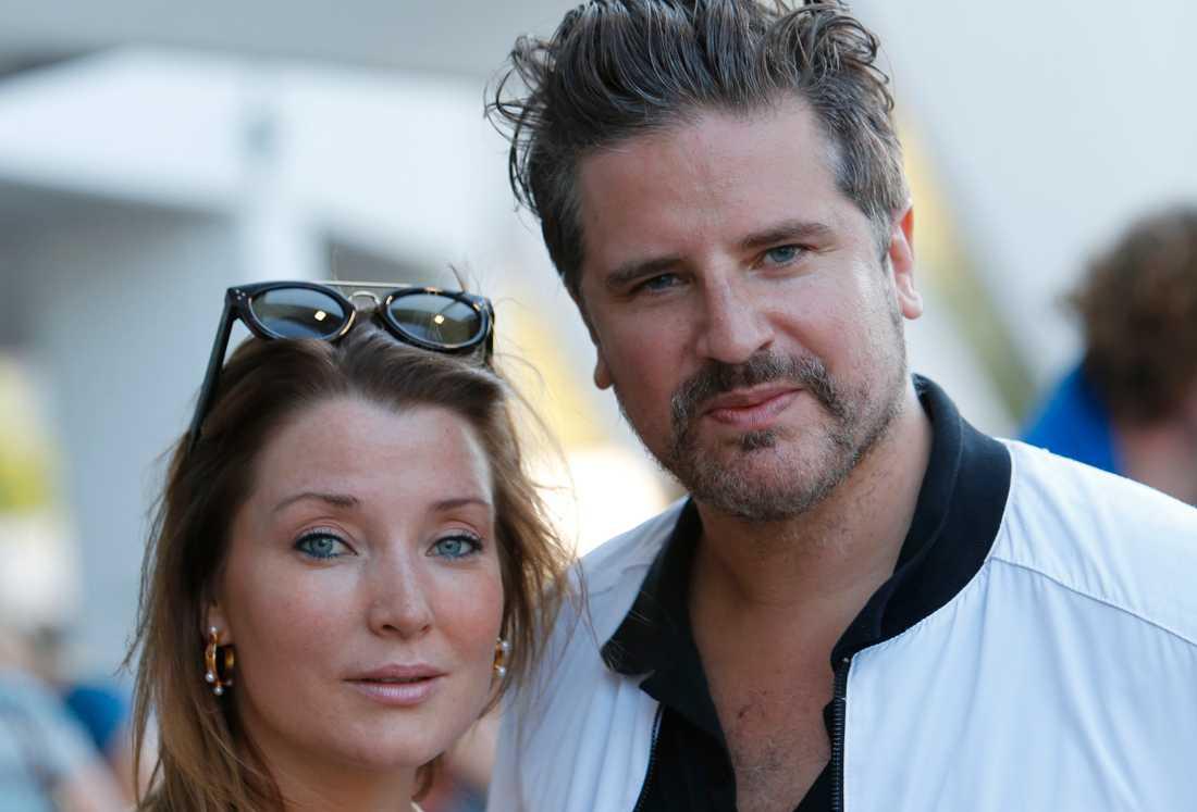 Sigge Eklund och hustrun Malin Eklund.
