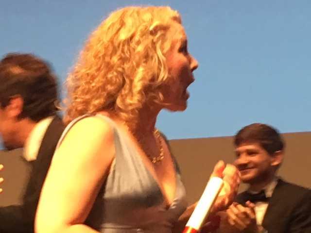 Eva Melander blev överraskad av priset.
