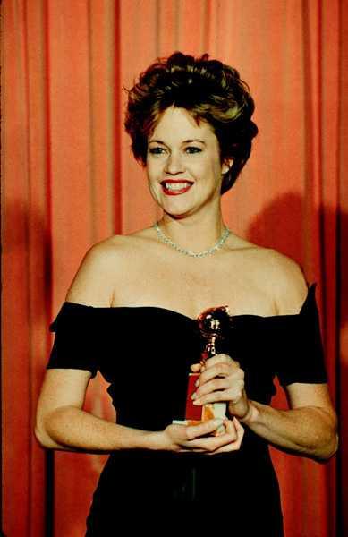 "1989 fick Melanie Griffith ta emot en Golden globe för sin roll i filmen ""Working girl"""