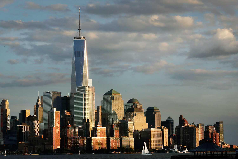 Nya One World Trade Center i New York har ett utsiktsdäck 410 meter ovan mark.
