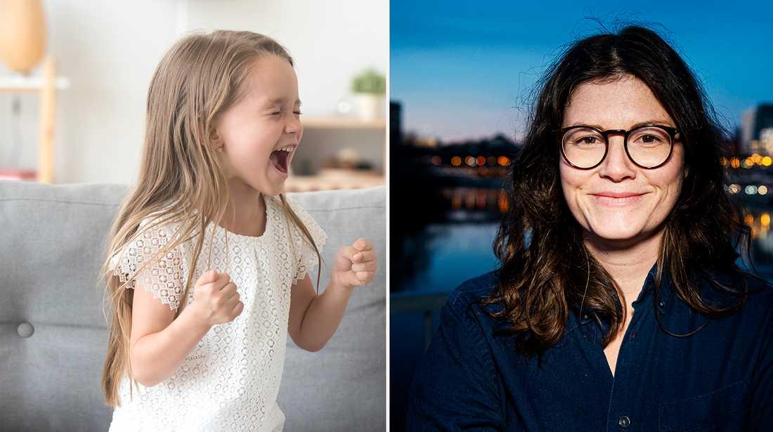 Psykologen Karin ger råd till en mamma vars dotter får utbrott.