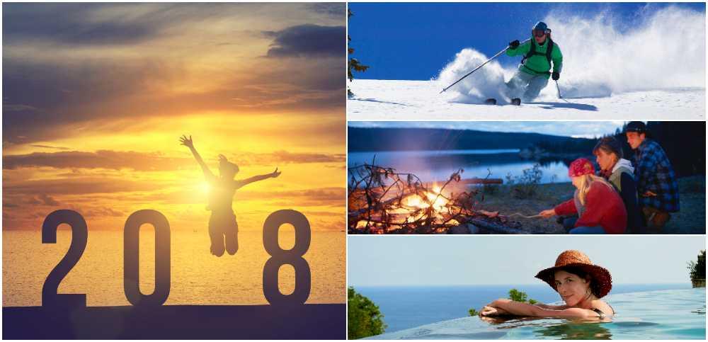 2018 bjuder på åtskilliga semestertillfällen och tänkbara ledigheter med röda dagar.