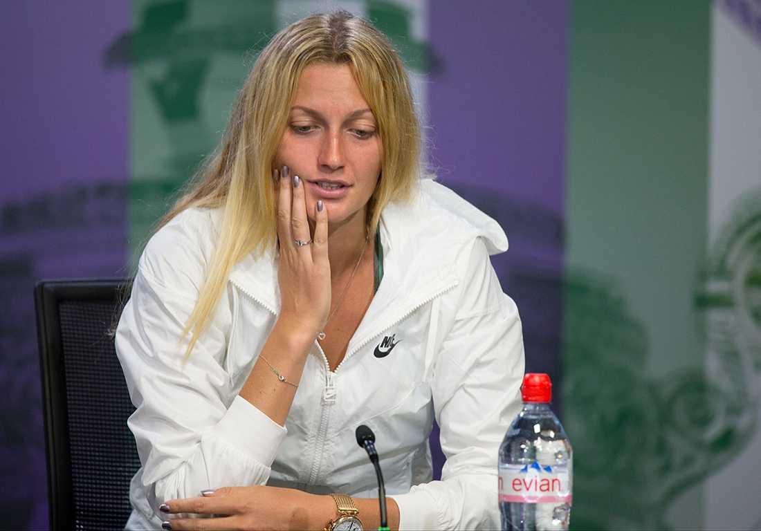 Petra Kvitova har en turneringsseger i år, i Madrid, men i Grand slam har det varit snabba sortier.