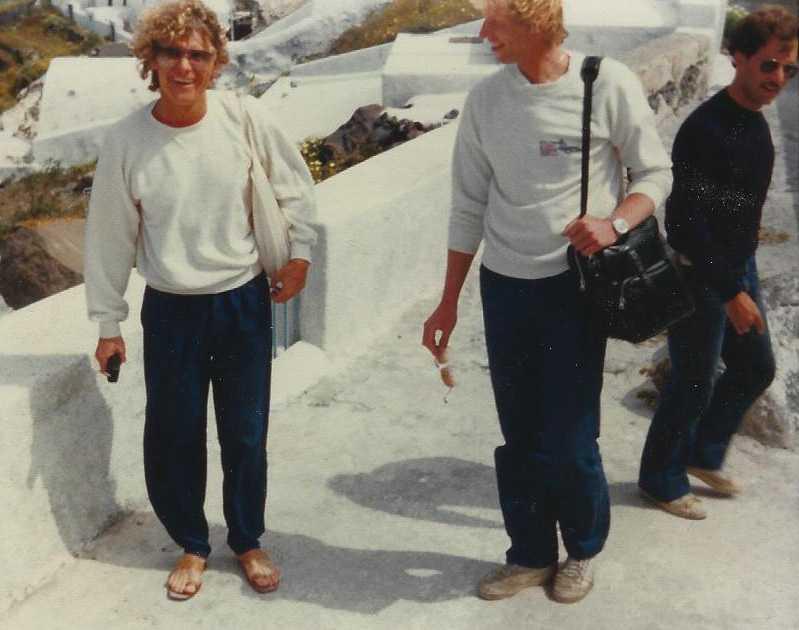 Bengt, Ingemar och Jim på de grekiska öarna 1980.