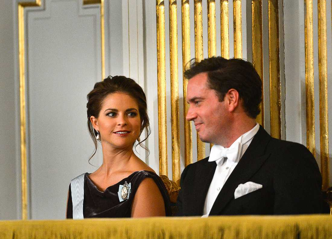 Prinsessan Madeleine och hennes blivande make Chris O´Neill.