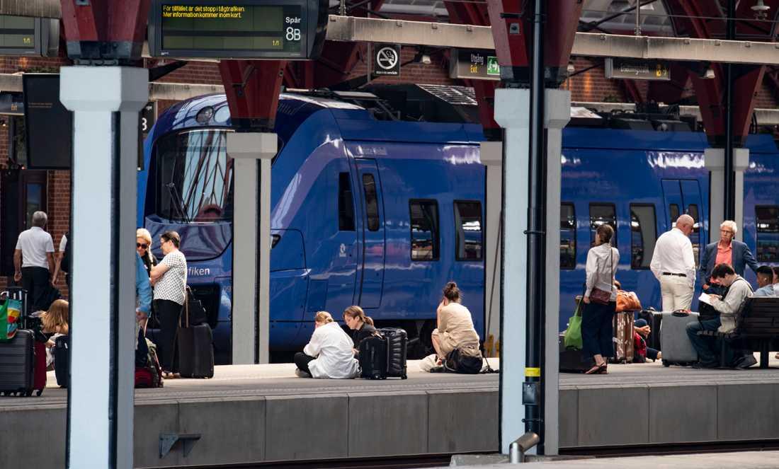 Passagerare på Malmö C. Arkivbild.