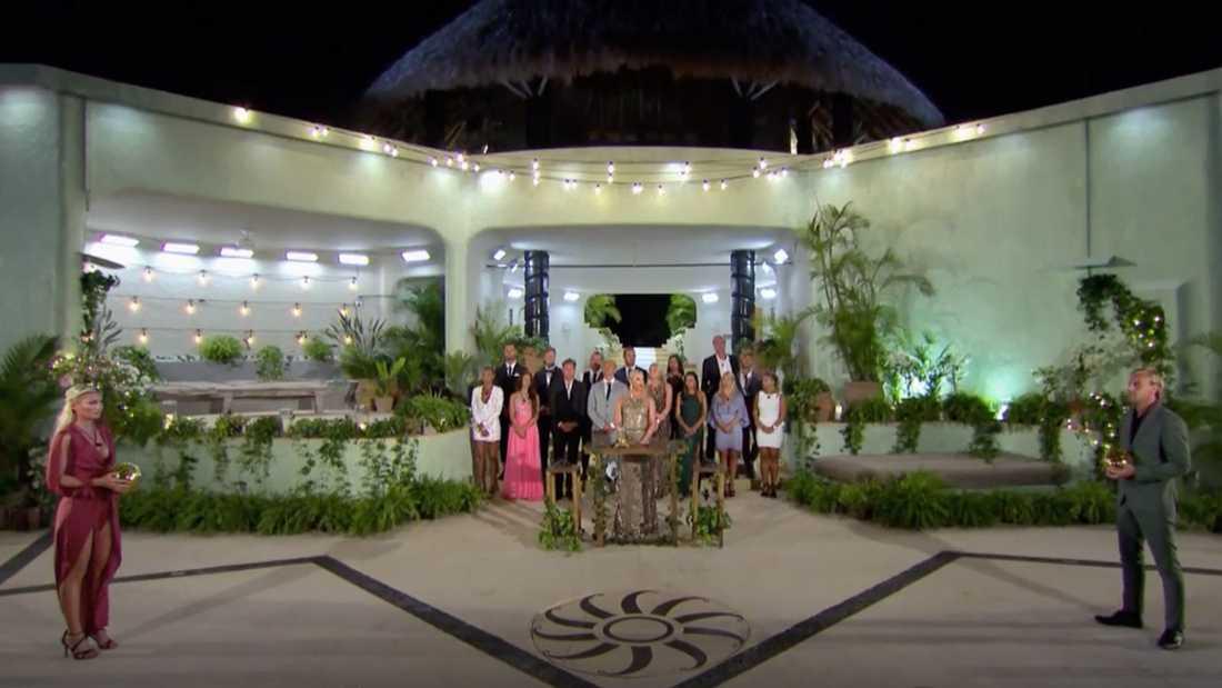 "Finalen i ""Paradise hotel""."