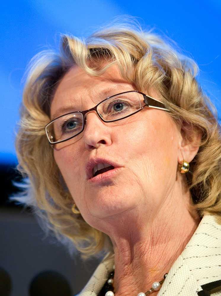 Metta Fjelkner, ordförande i Lärarnas riksförbund.