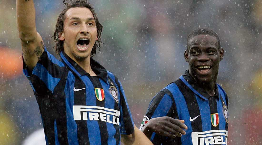Zlatan och Balotelli under tiden i Inter